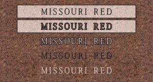 Missouri Red - Quarry Location: Graniteville, Missouri
