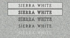 Sierra White - Quarry Location: Raymond, CA
